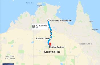 Dunmarra Wayside Inn to Alice Springs NT Australia Google Maps_02