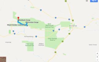 Ormiston Gorge to Redbank Gorge Mount Zeil NT Australia Google Maps